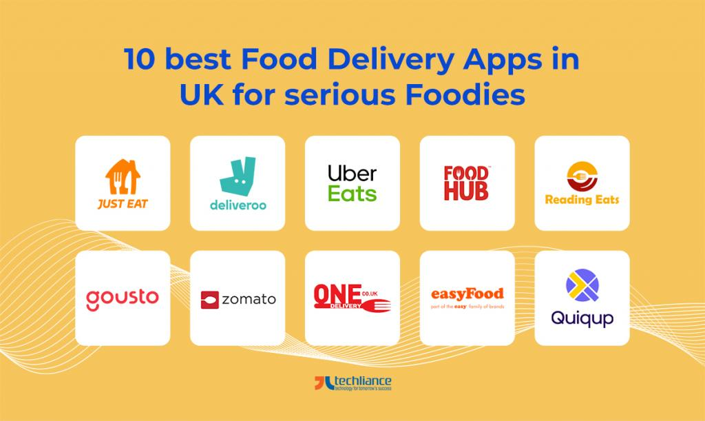 10 best Food Delivery Apps in UK for serious Foodies