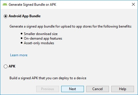 Figure 1 - Select Android App Deployment Method In Google Play Console