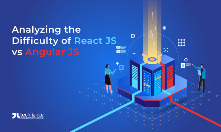 Analyzing the Difficulty of React JS vs Angular JS