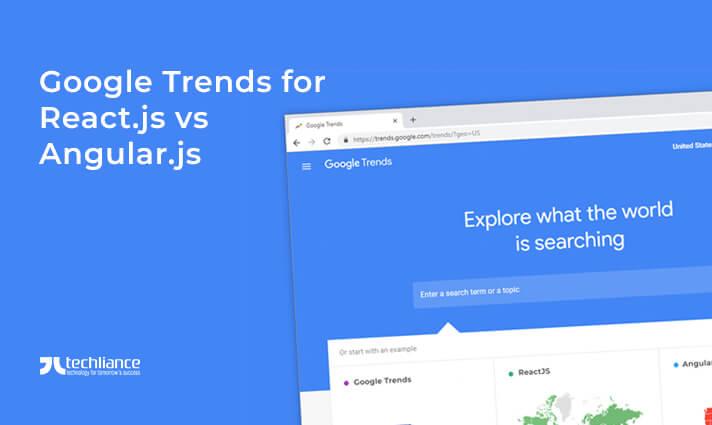Google Trends for React.js vs Angular.js