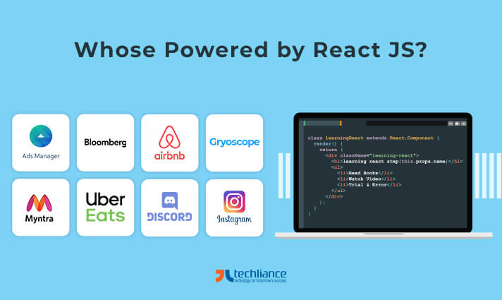 Which websites are Powered by ReactJS