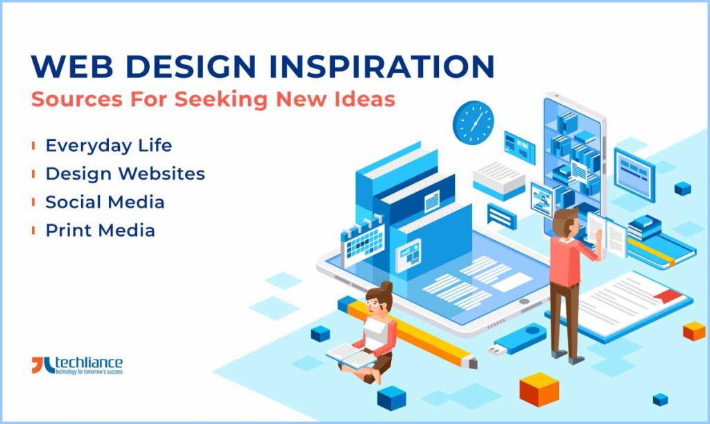 Web Design Inspiration: Sources for Seeking new Ideas
