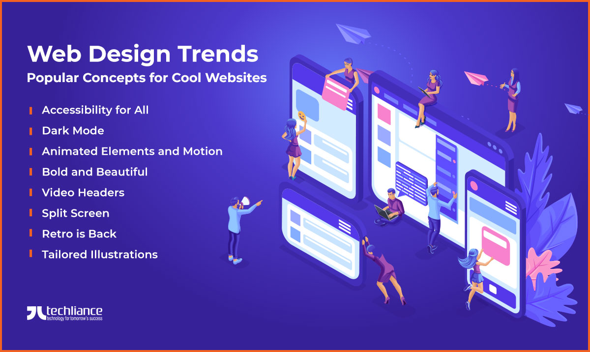 Web Design Trends Top Concepts For Cool Website In 2020
