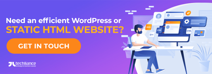 Need an efficient WordPress or Static HTML Website