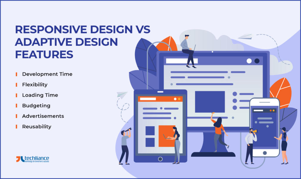 Responsive Design vs-Adaptive Design Features