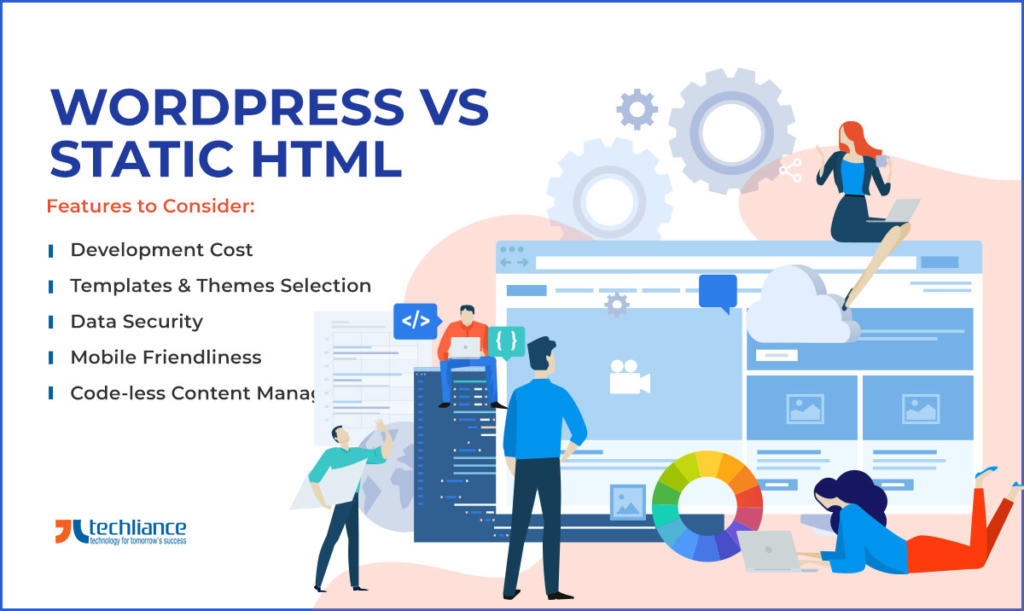 WordPress vs Static HTML - Features to Consider