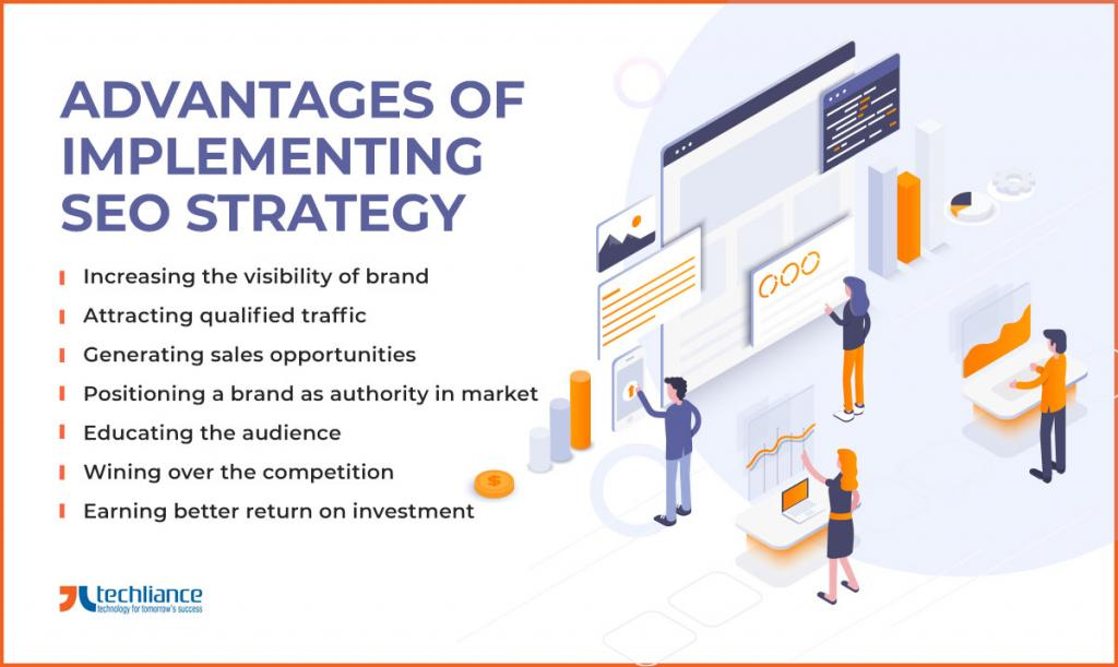 Advantages of implementing SEO strategy