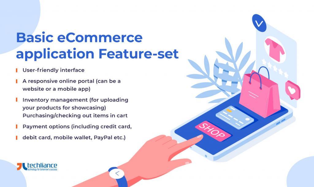 Basic eCommerce application Feature-set