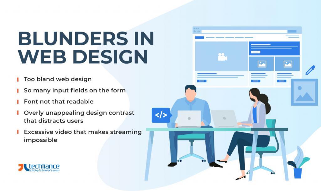 Blunders in Web Design