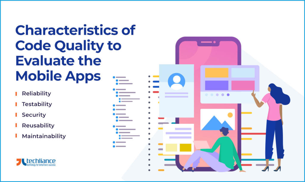 Characteristics of Code Quality to Evaluate the Mobile Apps