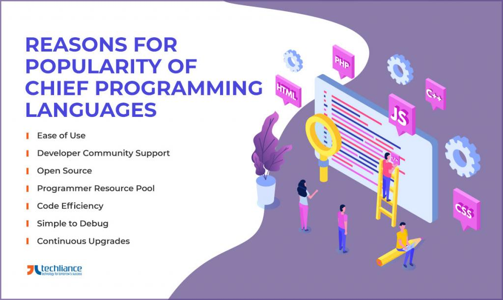 Reasons for Popularity of Chief Programming Languages