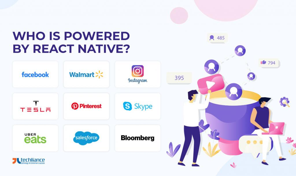 Who is Powered by React Native