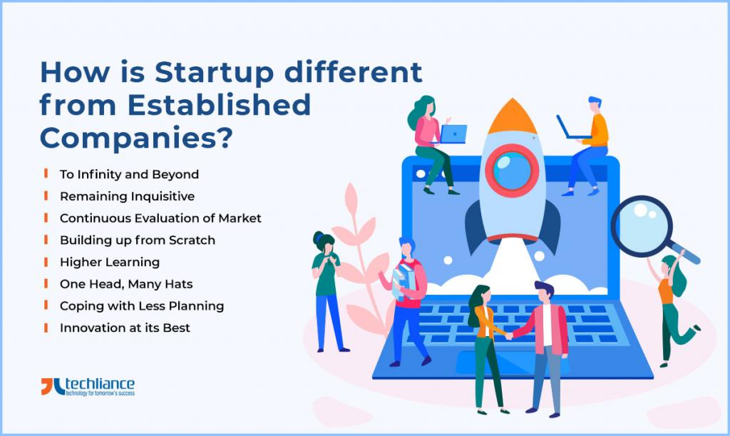 How is Startup different from Established Companies
