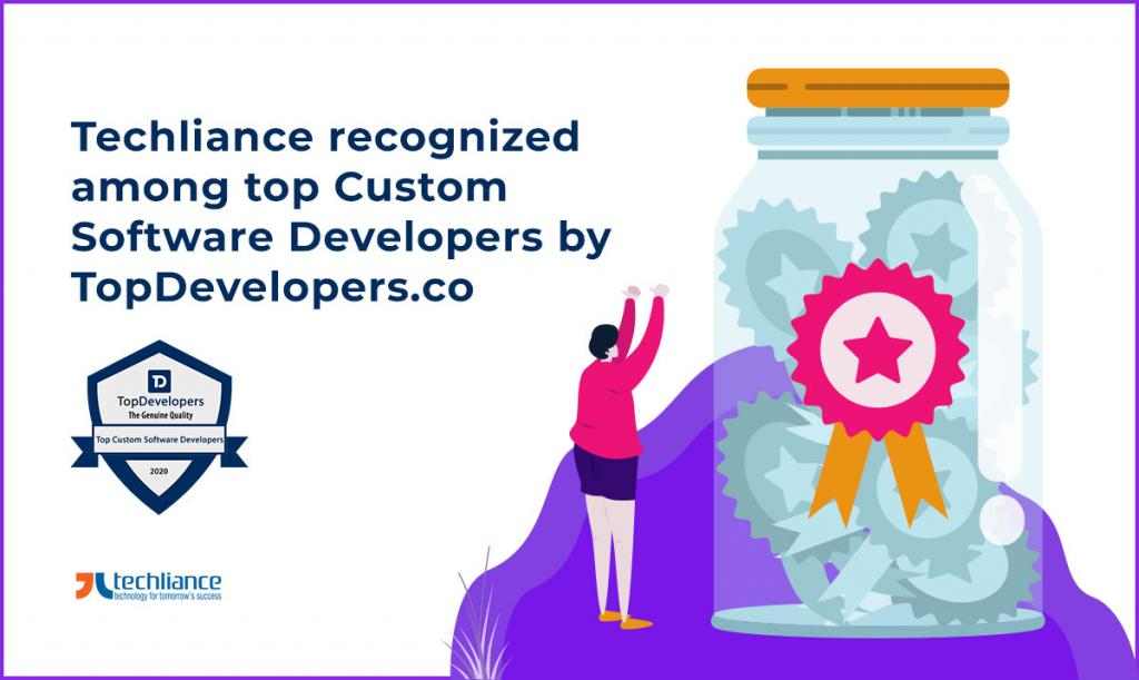 Techliance recognized among top Custom Software Developers by TopDevelopers.co