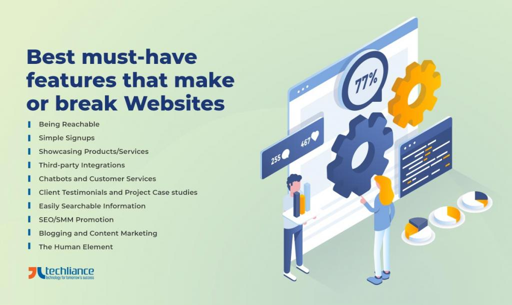 Best must-have features that make or break Websites