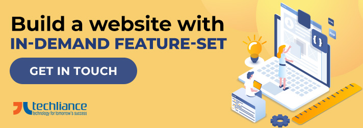 Build a website with in-demand Featureset