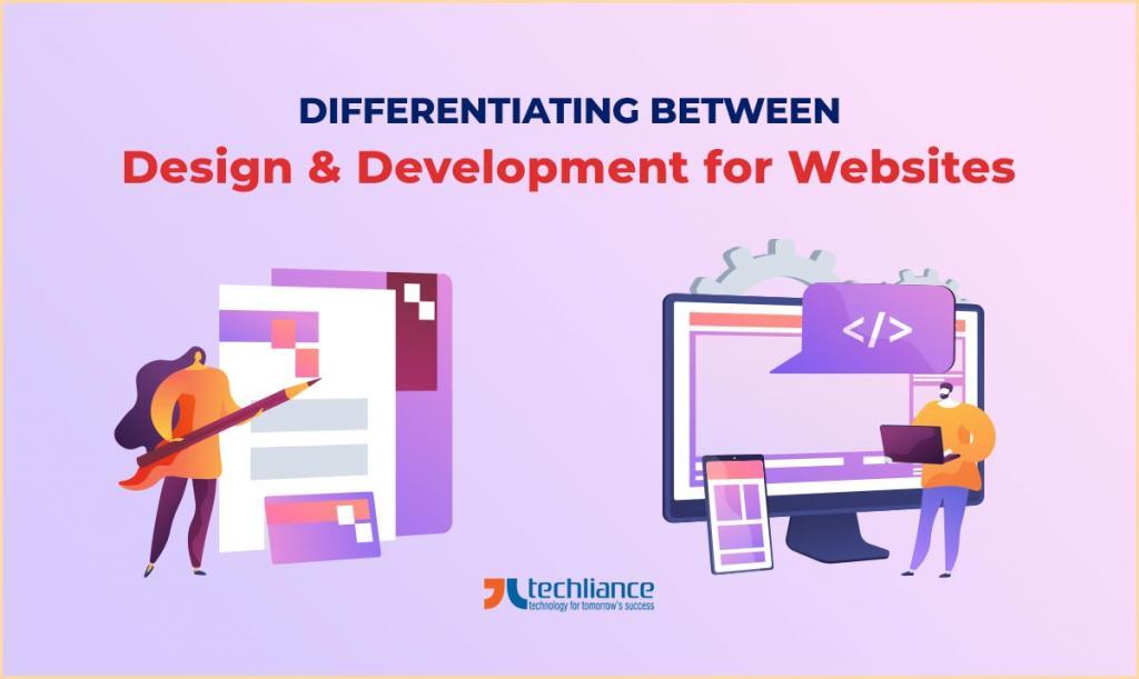 Differentiating between Design and Development for Websites