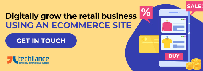 Digitally grow the retail business using an eCommerce site