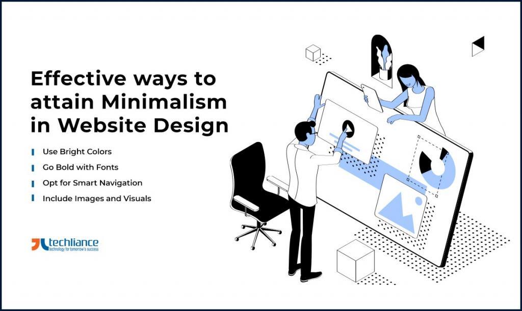 Effective ways to attain Minimalism in Website Design