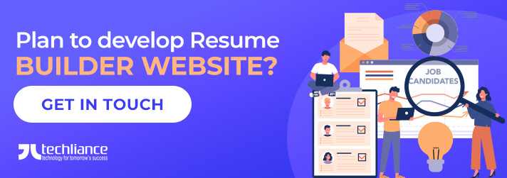 Plan to develop Resume Builder Website