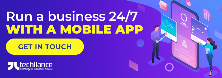 Run a business 24/7 with a mobile app