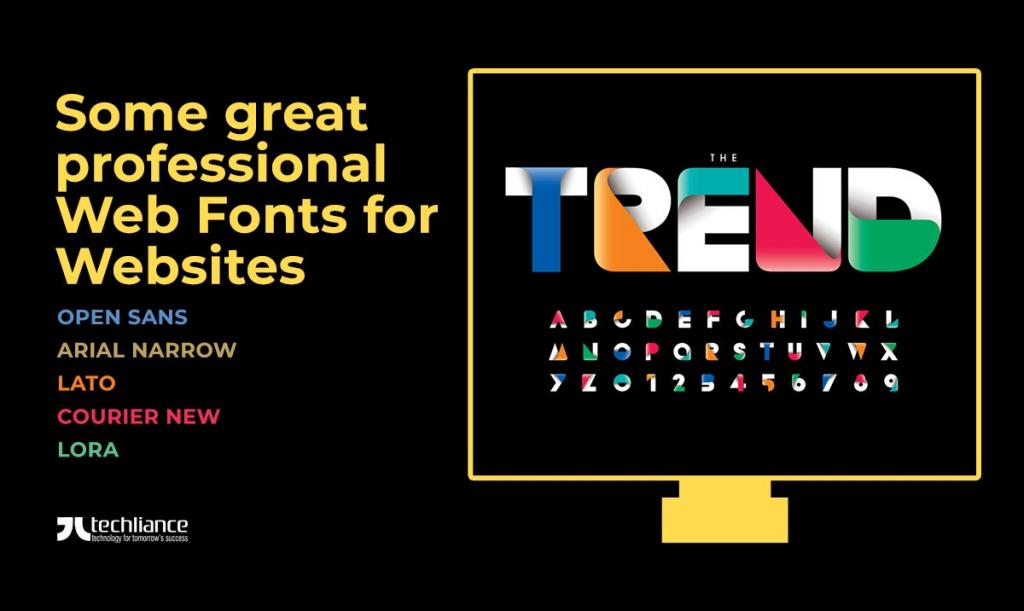 Some great professional Web Fonts for Websites