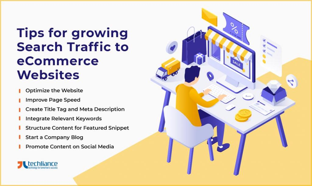 Tips for growing Search Traffic to eCommerce Websites
