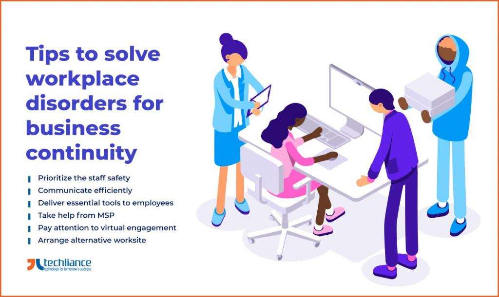 Tips to solve workplace disorders for business continuity