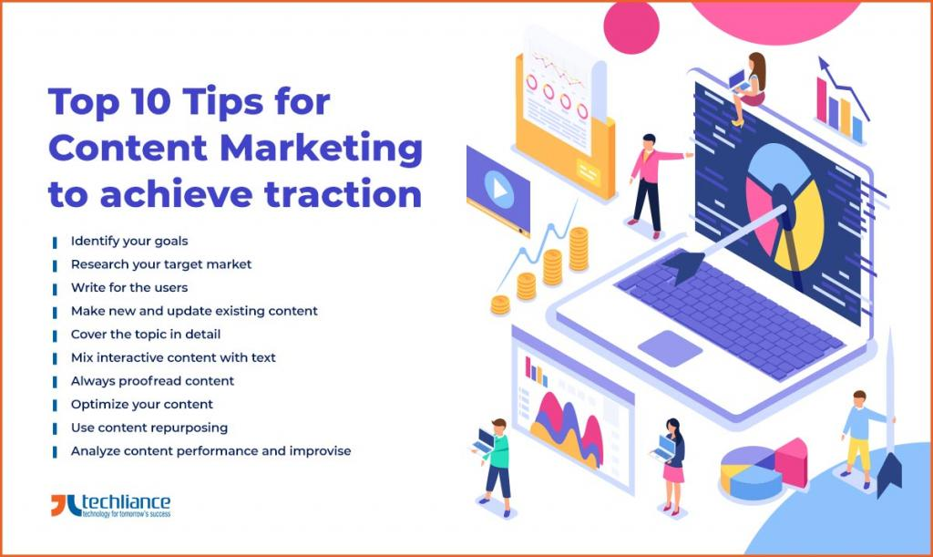 Top 10 Tips for Content Marketing to achieve traction