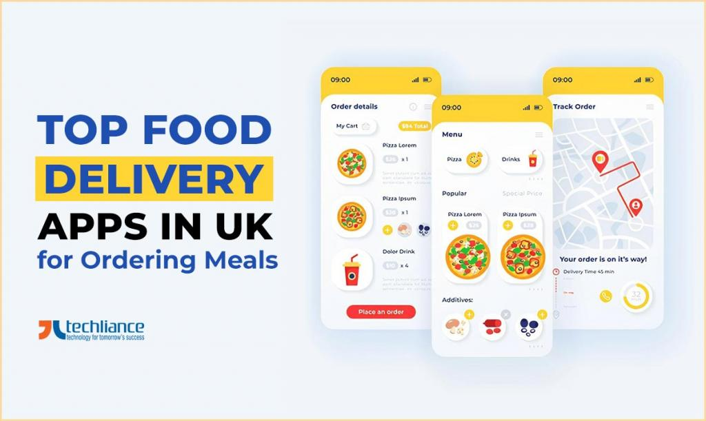 Top Food Delivery Apps in UK for ordering meals