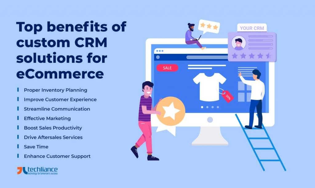 Top benefits of custom CRM solutions for eCommerce