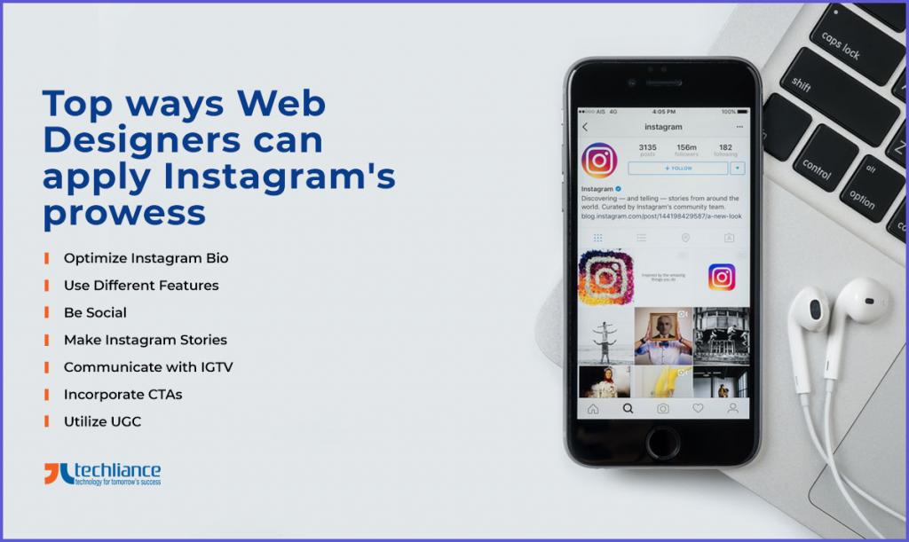 Top ways Web Designers can apply Instagram's prowess