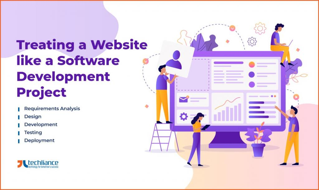 Treating a Website like a Software Development Project