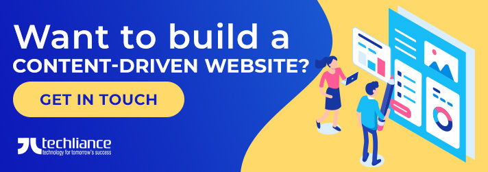 Want to build a content-driven Website