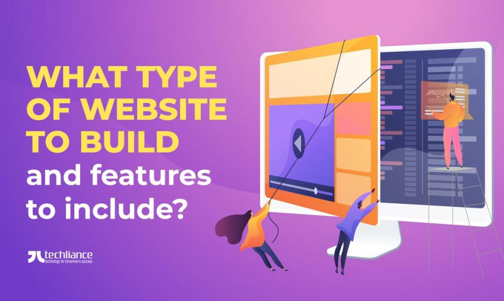 What type of website to build and features to include